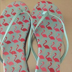 Cute flaming pattern flip flop